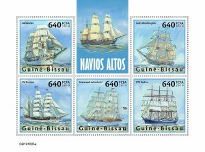 Z08 IMPERF GB191005a GUINEA BISSAU 2019 Tall ships MNH ** Postfrisch