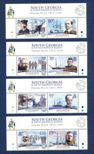 SOUTH GEORGIA - # 439-442 - MNH - Explorers - 2011