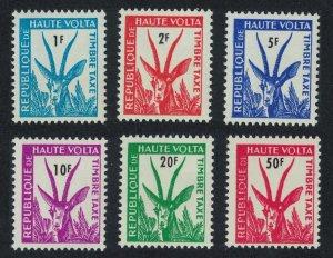 Upper Volta Red-fronted Gazelle Postage Due 6v 1962 MNH SG#D95-D100