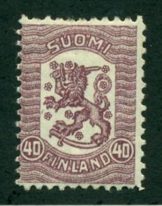 Finland 1918 #114 MH SCV(2018) = $0.70
