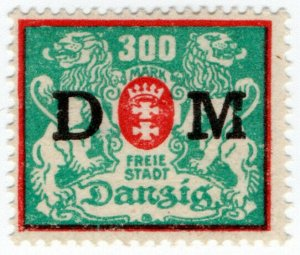 (I.B) Germany Local Post : Danzig Postage Due 300M