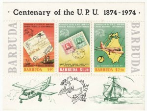 Barbuda; 1974 Centenary OF UPU, $4.05 Rate, MNH, Stamps On Stamps