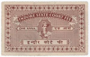 (I.B) India (Princely States) Revenue : Indore Court Fee 1a