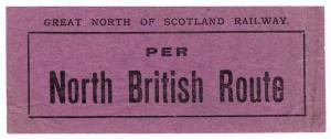 (I.B) Great North of Scotland Railway : NBR Parcel Stamp