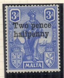 Malta 1925 Early Issue Fine Mint Hinged 2.5d. Surcharged 321560