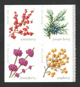 5415-18 (5418a) Winter Berries Block Of 4 Postage Stamps Mint/nh FREE SHIPPING