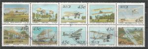 SOUTH AFRICA, 1993 45c block, Aircraft: Scott 849