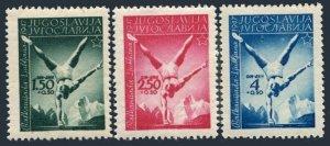 Yugoslavia B142-B144,MNH.Michel 524-526. 1947 Balkan Games.Horizontal bar.