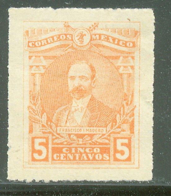 MEXICO 504, 5¢ Pres. FRANCISCO I. MADERO. UNUSED, H OG. VF.