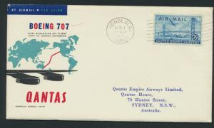 1953 Qantas FF Cover - Honolulu Sydney  AAMC 1407a SPECIAL - please read deta...