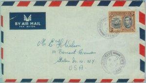 83347 - GRENADA - Postal History -  COVER  to USA 1948 : GOUYAVE