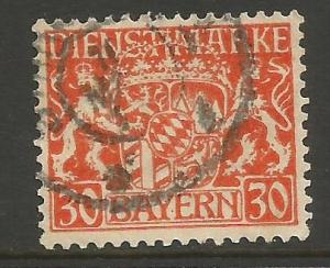 GERMANY BAVARIA O16 VFU S648-2