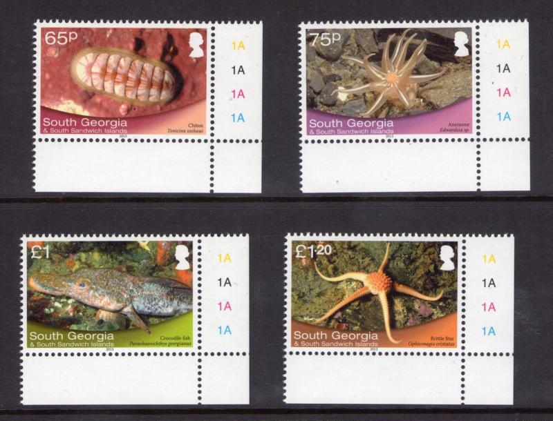 South Georgia Shallow Marine Life Set 2013, Decimal  IN PRISTINE MNH CONDITION