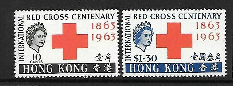 HONG KONG SG212/3 1963 RED CROSS MTD MINT