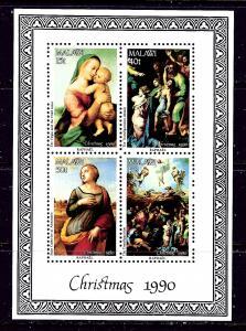 Malawi 577a MNH 1990 Christmas S/S