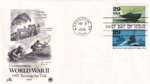 1993, Turning the Tide-WW2-1943, Art Craft/PCS, FDC (E11351)