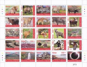 Kenya 2013 MNH Independence 50th Anniv 25v M/S 4 Tourism Series
