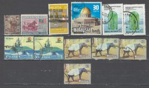 COLLECTION LOT # 2563 MALAYA/MALAYSIA 12 STAMPS 1906+ CLEARANCE CV+$16