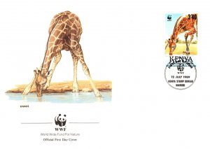 Kenya Uganda & Tanganyika, Worldwide First Day Cover, World Life Fund, Animals