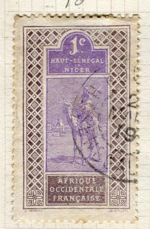 FRENCH COLONIES;  HAUT SENEGAL early 1900s pictorial issue used 1c. value