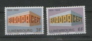 LUXEMBOURG-MNH** -SET-EUROPA CEPT-1969.