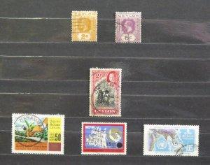 4226   Ceylon   Used # 201, 203, 264, 407, 465, 469        CV$ 5.65