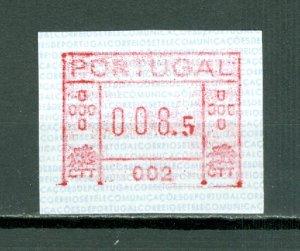 PORTUGAL TICKET ...ATM #1-002(AFINSA)...008.5e LISBON...$40.00
