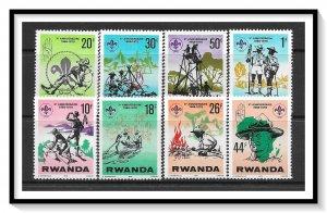 Rwanda #849-856 Boy Scouts Set MNH
