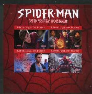 Chad 2021 Spider-Man 'No Way Home' imperf sheet mint nh