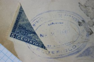 Nicaragua Bluefields Postal marking NO SE ENCUENTRA Bisect sc#125 cover 1903