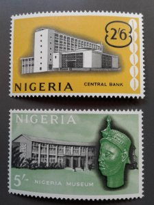 Nigeria 110-111 F-VF mint hinged. Scott $ 4.00