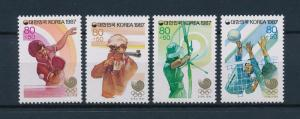 [55543] Korea 1987 Olympic games Seoul Tabletennis Archery Volleyball MNH