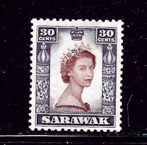 Sarawak 207 MH 1955 issue