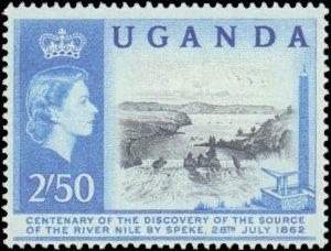 Uganda  #79-82, Complete Set(4), 1902, Never Hinged