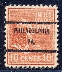 Philadelphia PA, 815-71 Bureau Precancel, 10¢ Tyler