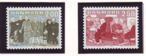 Denmark Sc 745-6 1983 Elderly in Societystamp set mint NH
