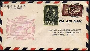 PORTUGAL 1941 first flight cover to New York...............................20001