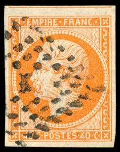 momen: France Stamps #18 Used XF Jumbo