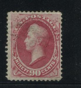 1872 US Stamp #155 90c Mint Disturbed Gum F/VF Catalogue Value $5000 Certified
