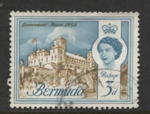 Bermuda - Scott 177 - QEII - Definitive -1962 - VFU - Single 3d Stamp
