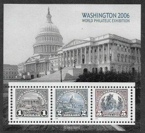 US #4075 2006 Washington 2006 Souvenir Sheet. Mint F/VF NH.