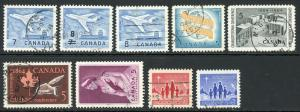 Canada 430-436 414 416 Used (1964 Year Set)