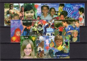Sao Tome and Principe 2004 International Year of the Child (ICY) Set (9) Perf.