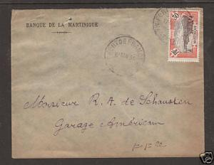 Martinique Sc 77 on 1934 local cover Fort de France CDS