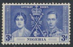 Nigeria  SG 48  SC# 52  MH Coronation 1937 please see scan