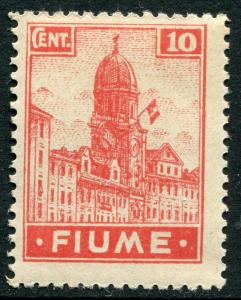 FIUME # 30 Fine Never Hinged Issue - ITALIAN FLAG CLOCK TOWER - S6105