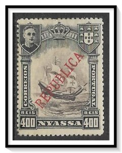 Nyassa #61 Flagship Overprinted MH