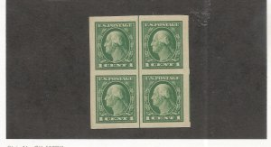 US SCOTT# 531, VERT. LINE BLOCK OF 4, MNH, OG