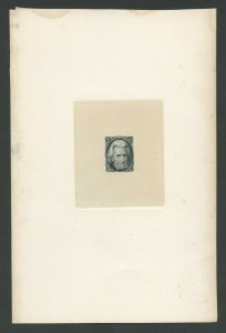 #73P1a LARGE DIE ON INDIA PAPER WITH LIGHT FOXING CV 2,500 WLM8608