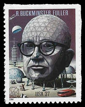 PCBstamps     US #3870 37c R. Buckminster, 2004, MNH, (5)